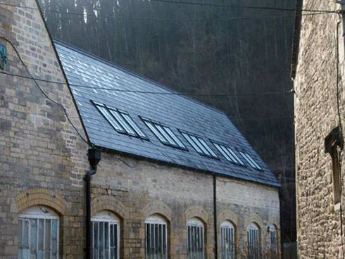 spanish slate roof conservation roof lights and clay ridge